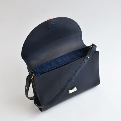 Noir d'Orion mini sac Hélios bleu - intérieur