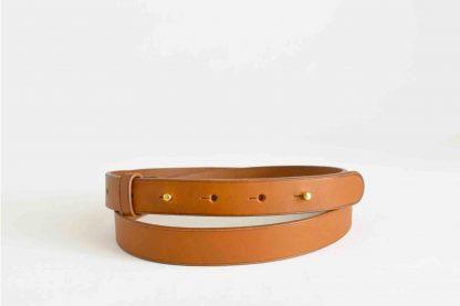 ceinture à boutons de col - fauve