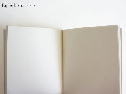 Carnet : feuilles blanches
