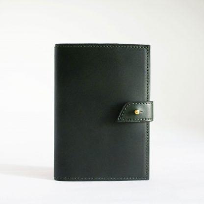Porte-passeport vert forêt - face