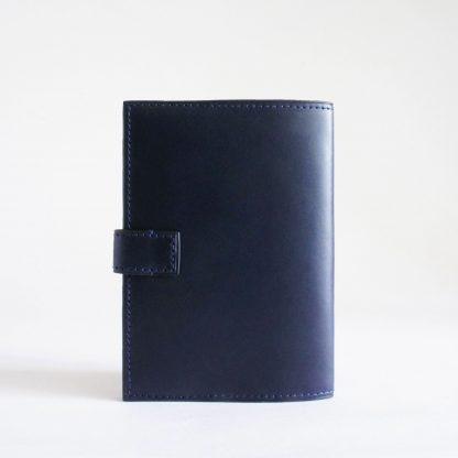 Porte-passeport ou porte-carnet bleu marine - dos