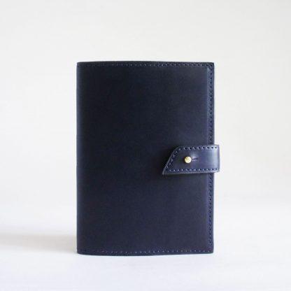 Porte-passeport ou porte-carnet bleu marine - face