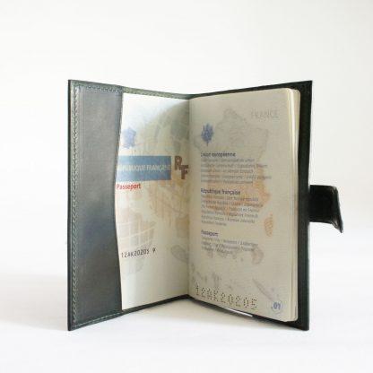 Porte-passeport vert forêt - intérieur