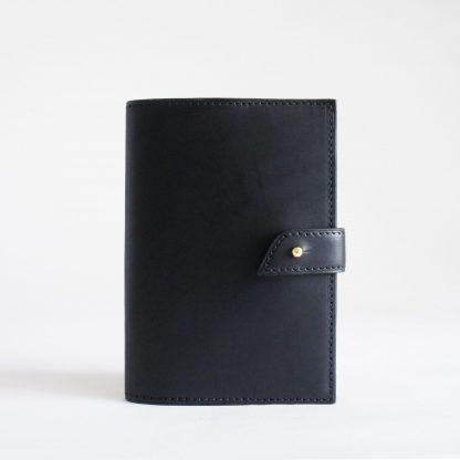 Porte-passeport ou porte-carnet noir - face