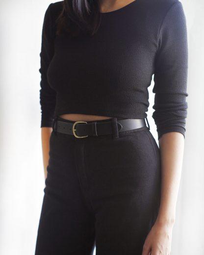 Noir d'Orion - ceinture large femme noire